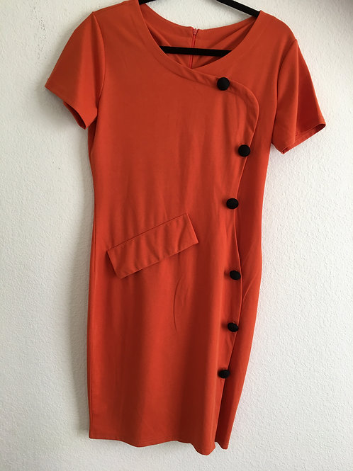 Aboudy Orange Dress - Size XL