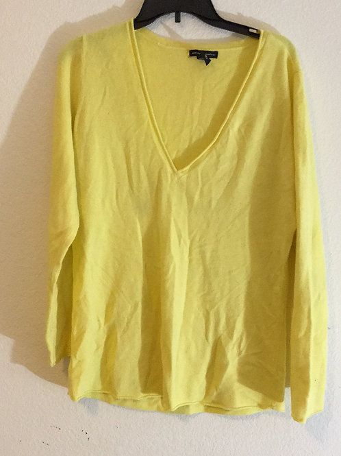 New York & Company Yellow Sweater - Size XL