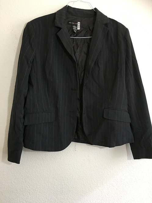 New York & Company Striped Blazer - Size 16