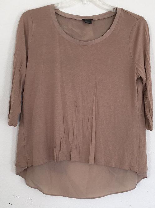Ann Taylor Tan Shirt - Size XL