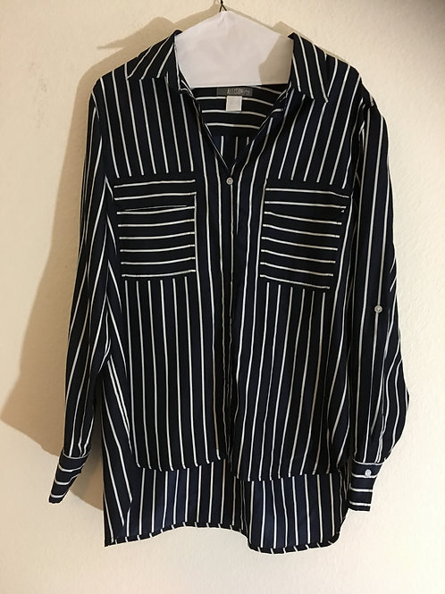 Allison's Joy Blue & White Shirt - Size Large