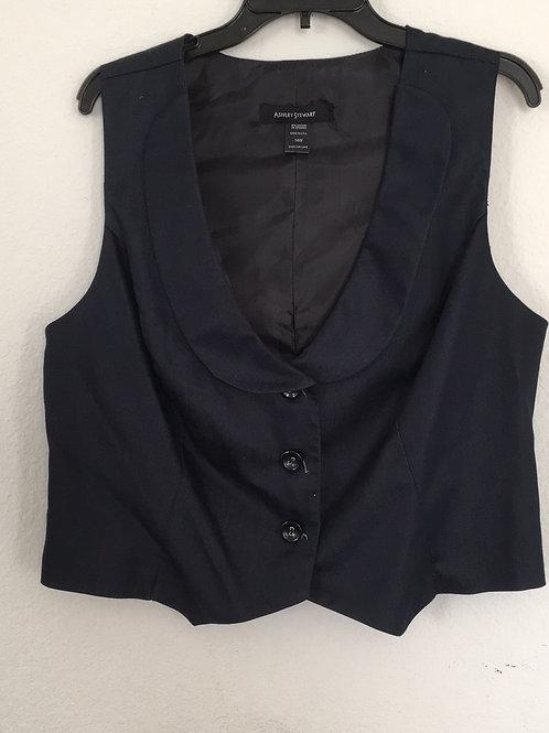 Ashley Stewart Blue Vest - Size 14