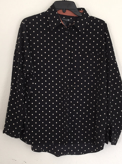Forever 21 Black Shirt - Size Small