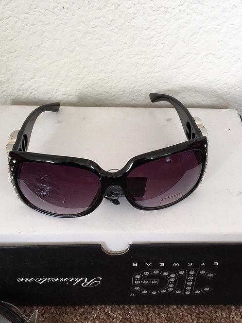 NWT Rhinestone Sunglasses Black