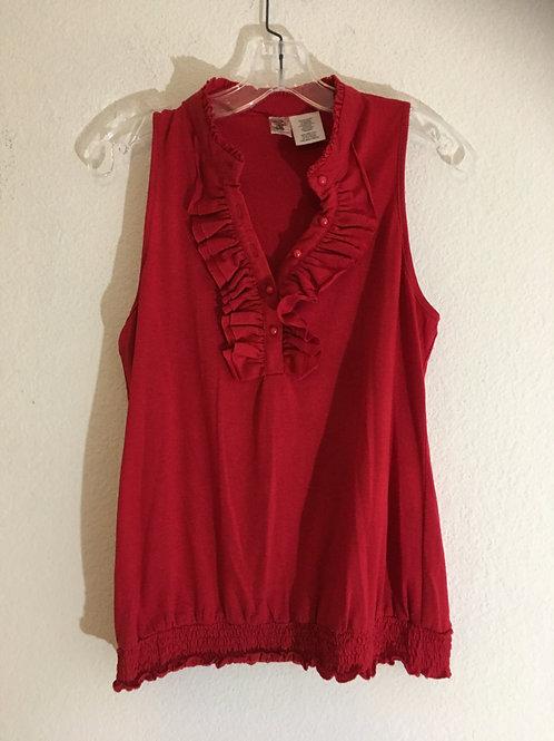 Red Sleeveless Shirt - Size Large