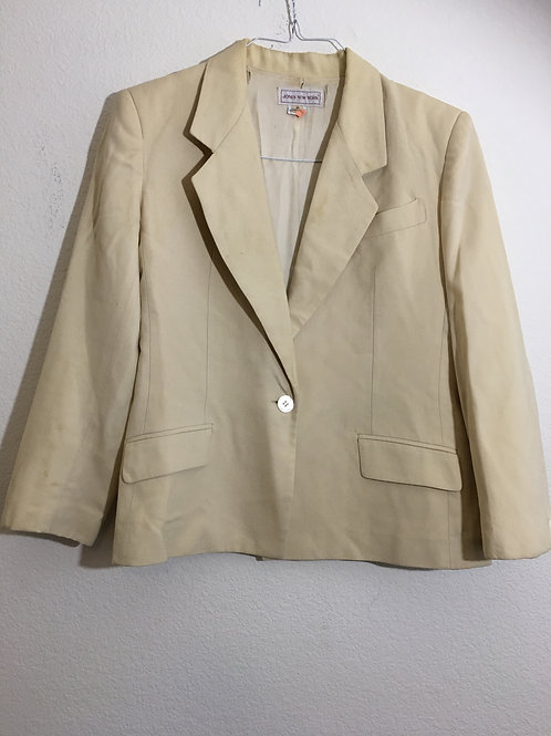 Jones New York  Cream Blazer - Size 8