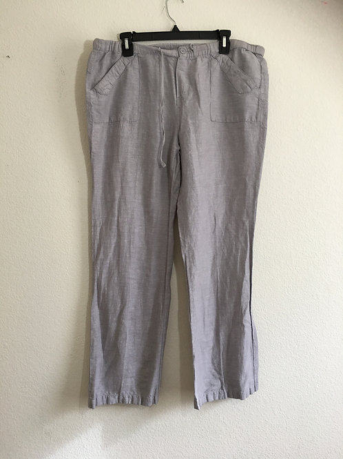 New York & Company Grey Drawstring Pants Size Large