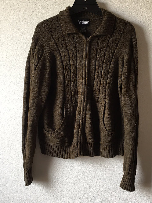 Studio Zip Up Sweater - Size Small
