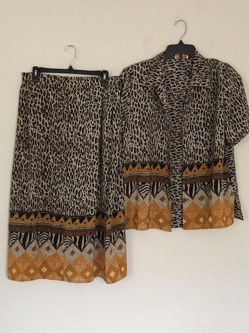 Voir Long Skirt Set- Size 1X