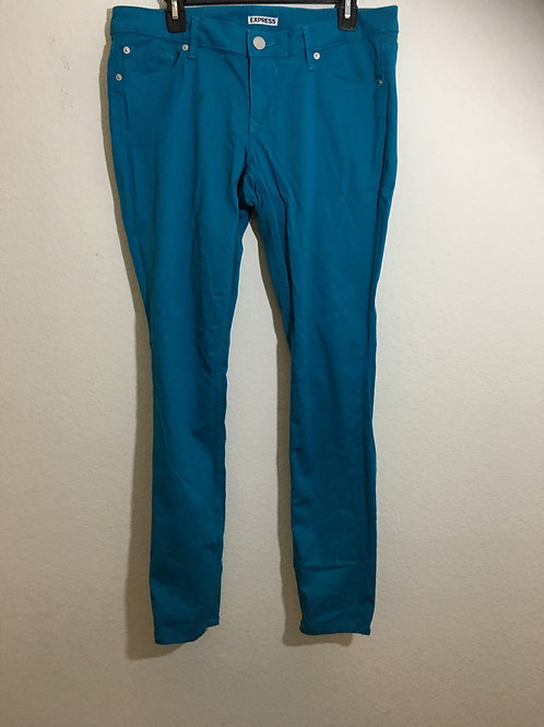 Express Turquoise Jeans Size 12