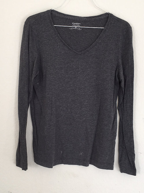 Dressbarn Grey Shirt - Size Medium