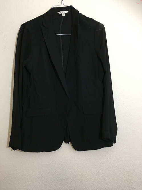 Cabi Black Sheer Sleeve Blazer - Size 12
