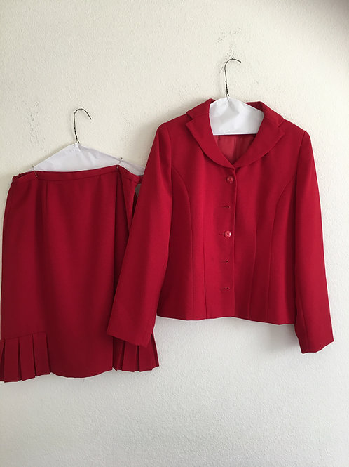 Karen Scott Red Suit - Size 12