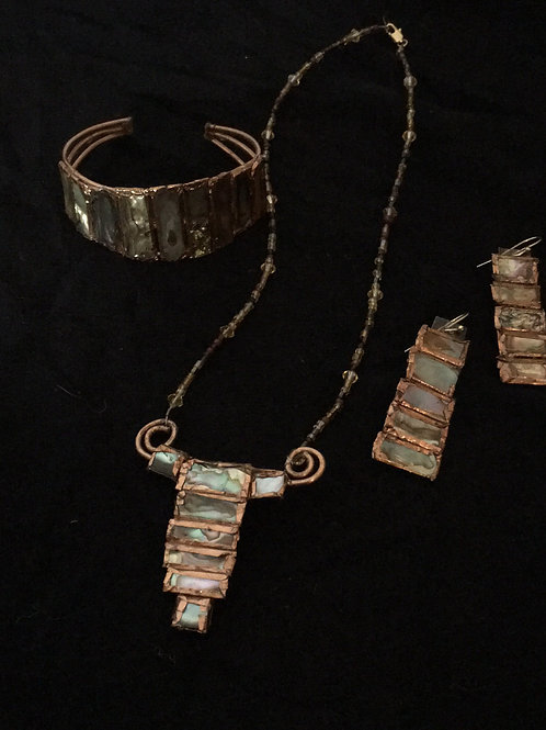 Bracelet, Necklace and Earring Set