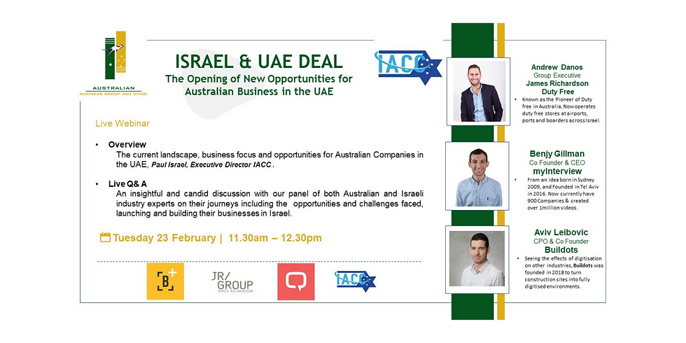 IACC & AusBG Abu-Dhabi Webinar