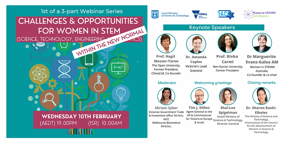 "IACC ""Opportunities & Challenges for Women in STEM"" webinar"