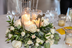 Triple Candle Floral Display