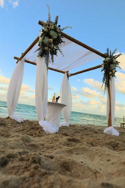 Florida Beach Wedding Chuppah