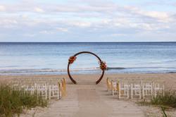 Florida Beach Wedding Moongate Arch