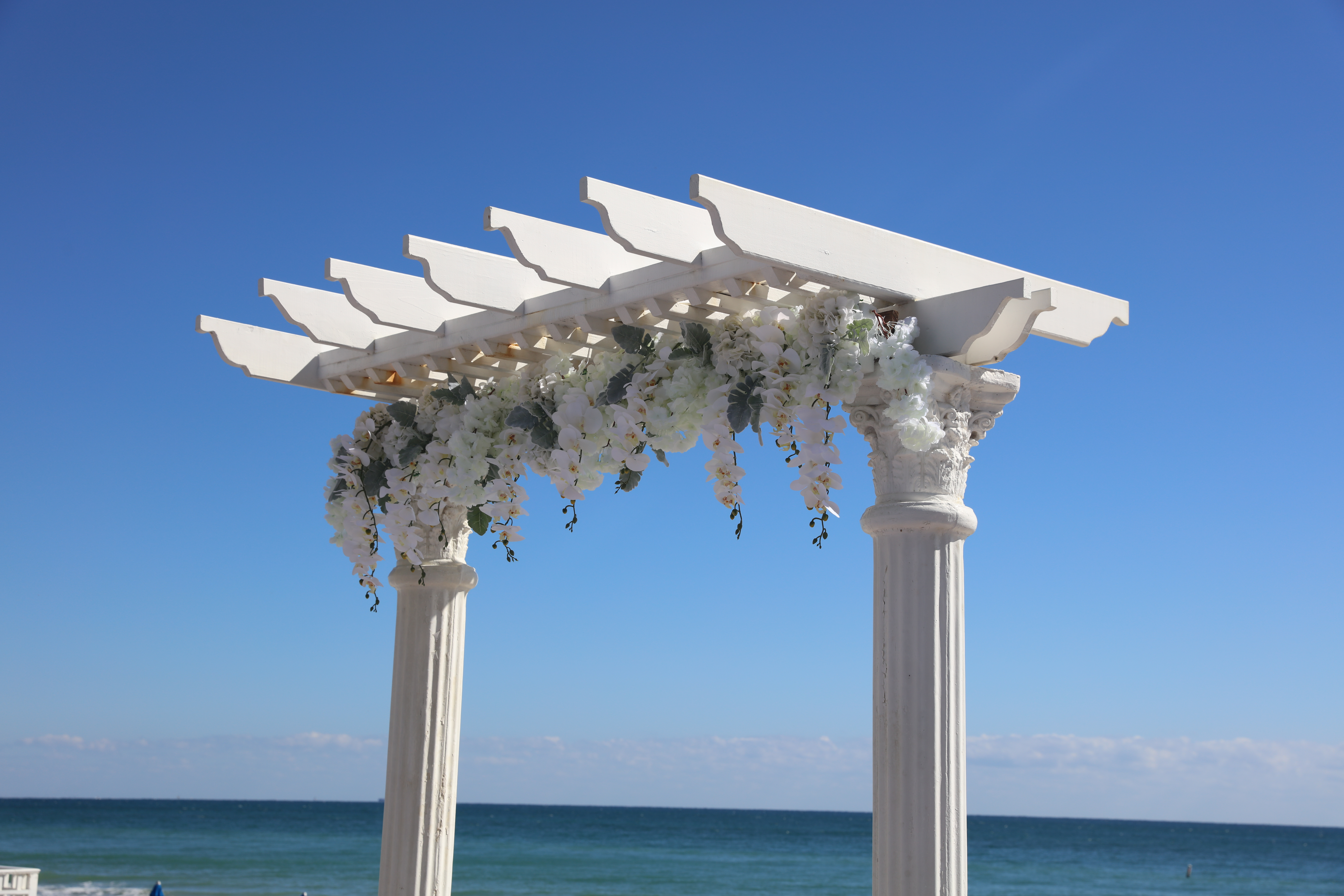 Ocean Sky Arch and Floral Beam