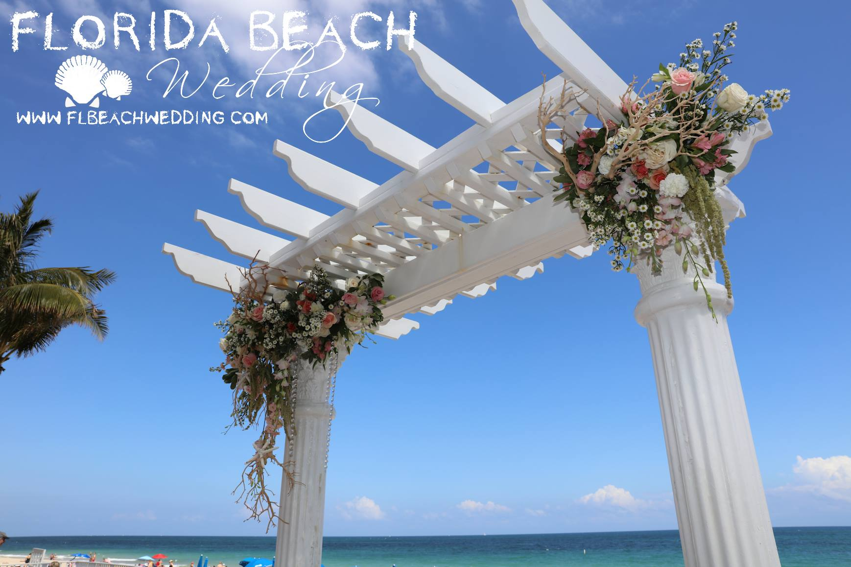 Ocean Sky Arch with Florals