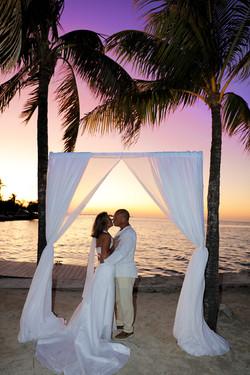 Florida Beach Wedding White Fabric Arch
