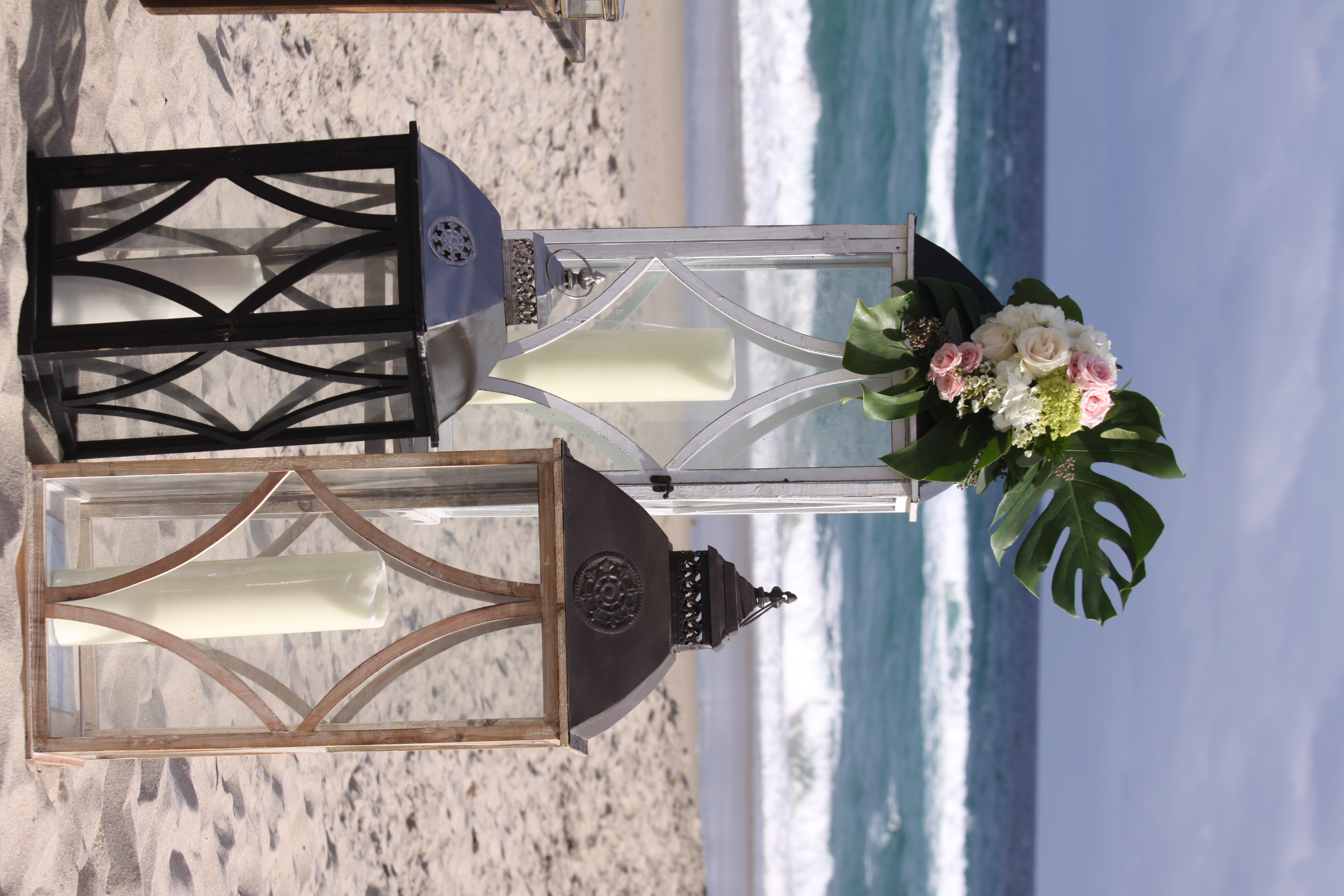 Giant Lantern Altar with Florals