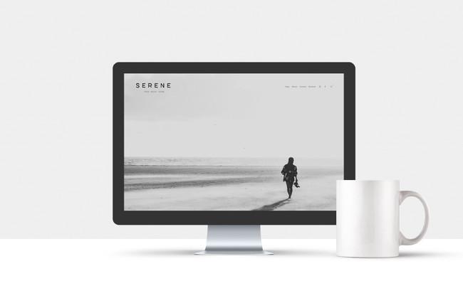 Serene homepage web design