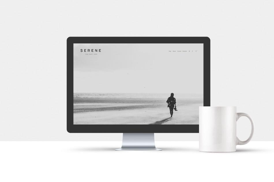 Serene web screen
