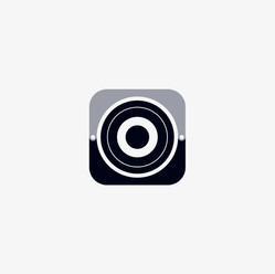 Circular speaker logo icon design