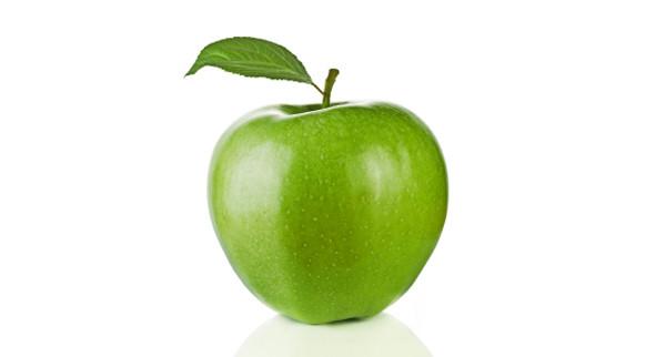 A fresh green apple