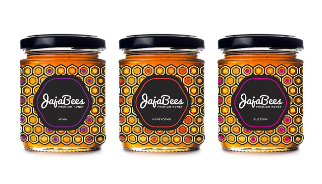 3 jars of designer honey