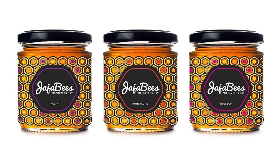 3 jars of designer honey