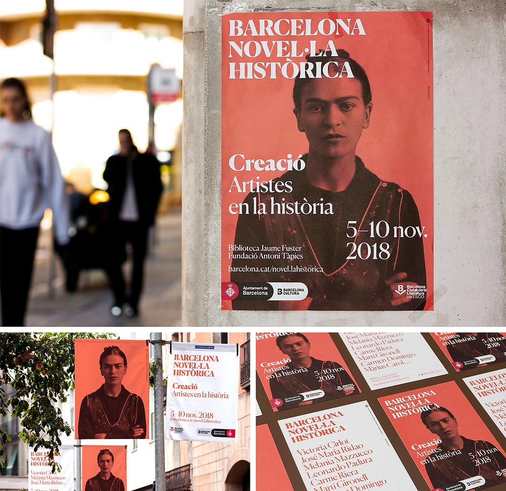 Barcelona Novel·la Històrica 2018 campaign design
