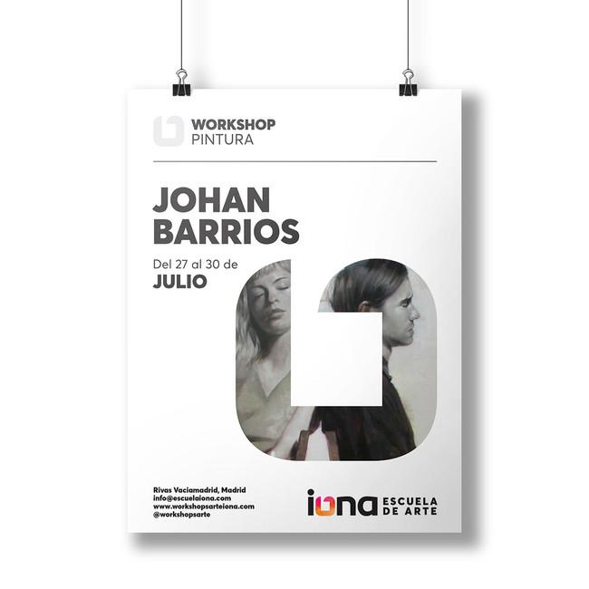 iONA School of Art workshops poster design - Johan Barrios