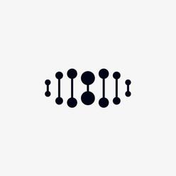 DNA logo icon design