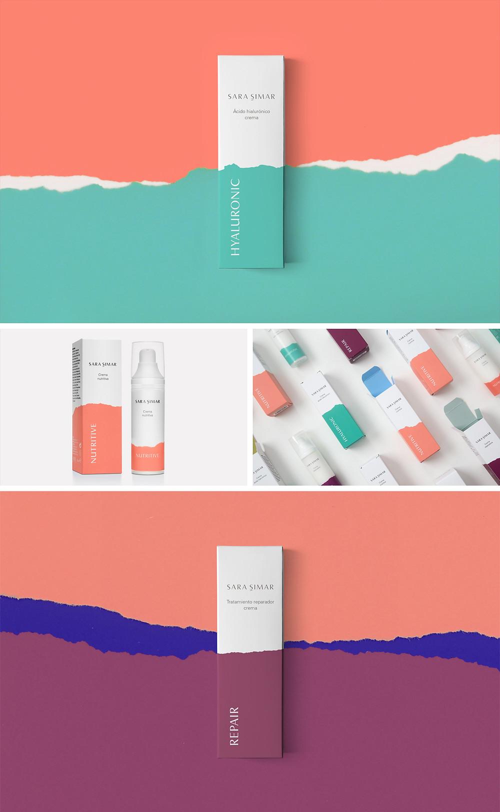 Coral in Sara Simar packaging design