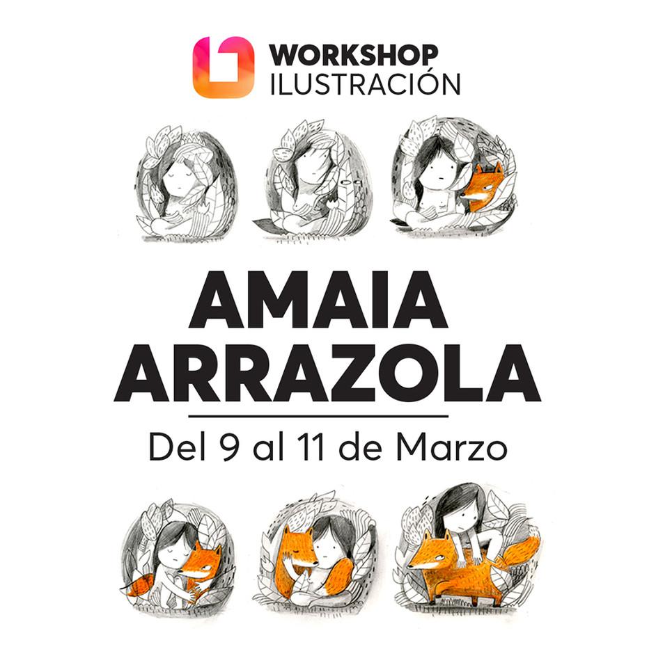 iONA School of Art workshops social media banner design - Amaia Arrazola