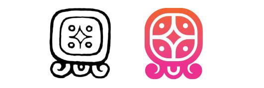 Lamat / Q'anil daysign icon design. Maya Tzolkin Calendar.
