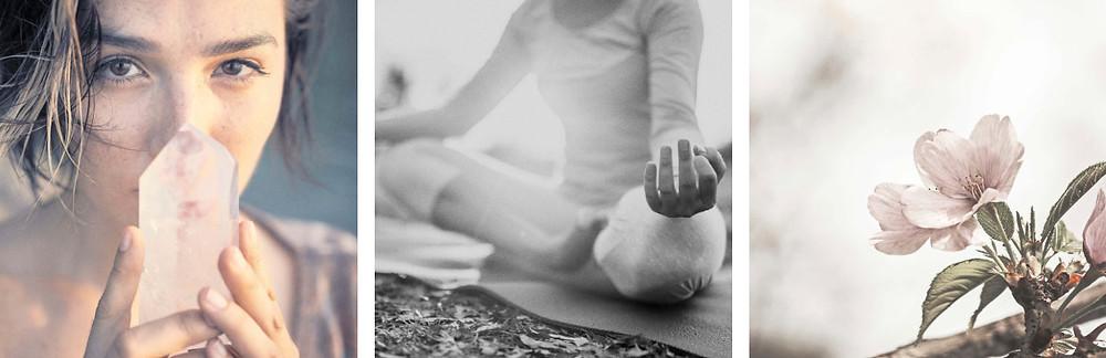 crystal meditation blossom flower lifestyle images
