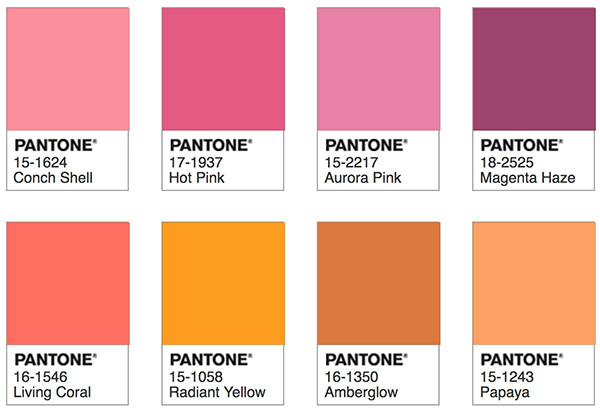 Pantone Living Coral - Shimmering Sunset Palette