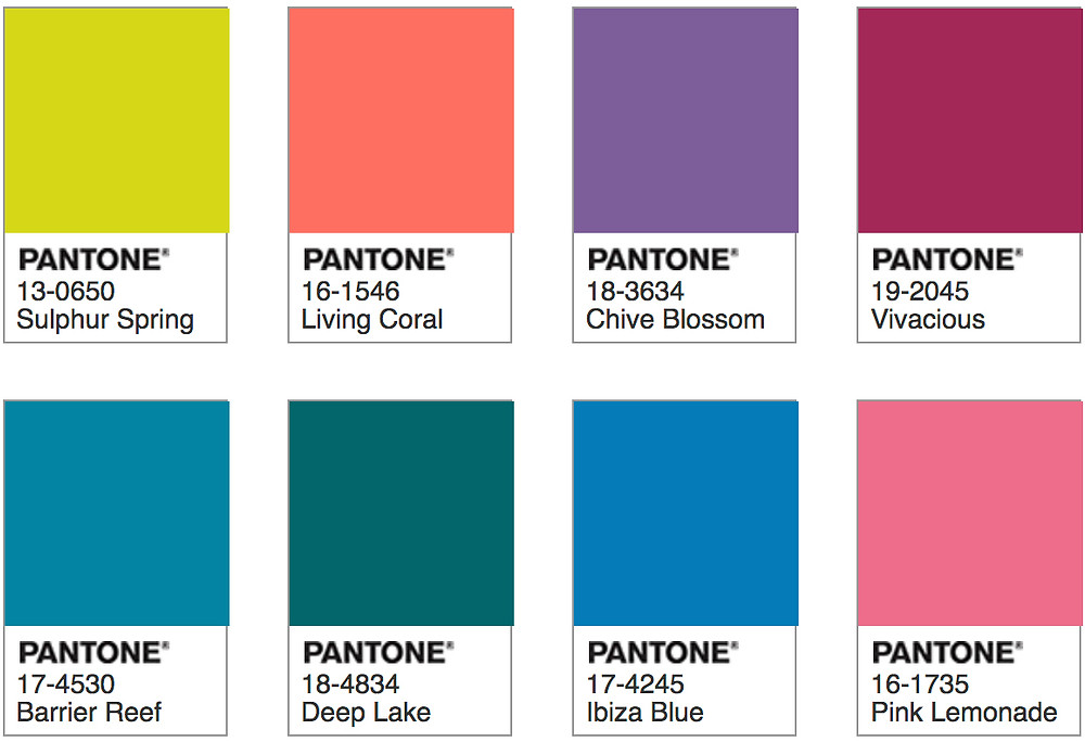 Pantone Living Coral - Trippy Palette