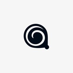 Koru circle logo icon design