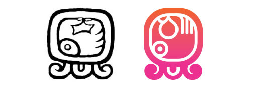 Manik' / Kej daysign icon design. Maya Tzolkin Calendar.