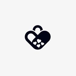 Love hearts handbag logo icon design