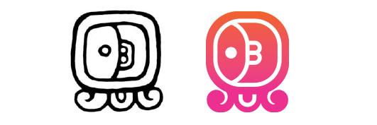 Muluc / Toj daysign icon design. Maya Tzolkin Calendar.