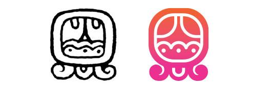 Akbal / Aq'ab'al daysign icon design. Maya Tzolkin Calendar.