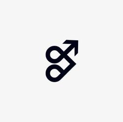 Arrow heart logo icon design