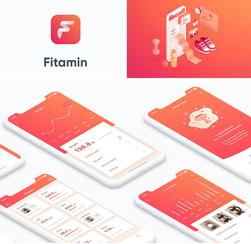 Fitamin app design