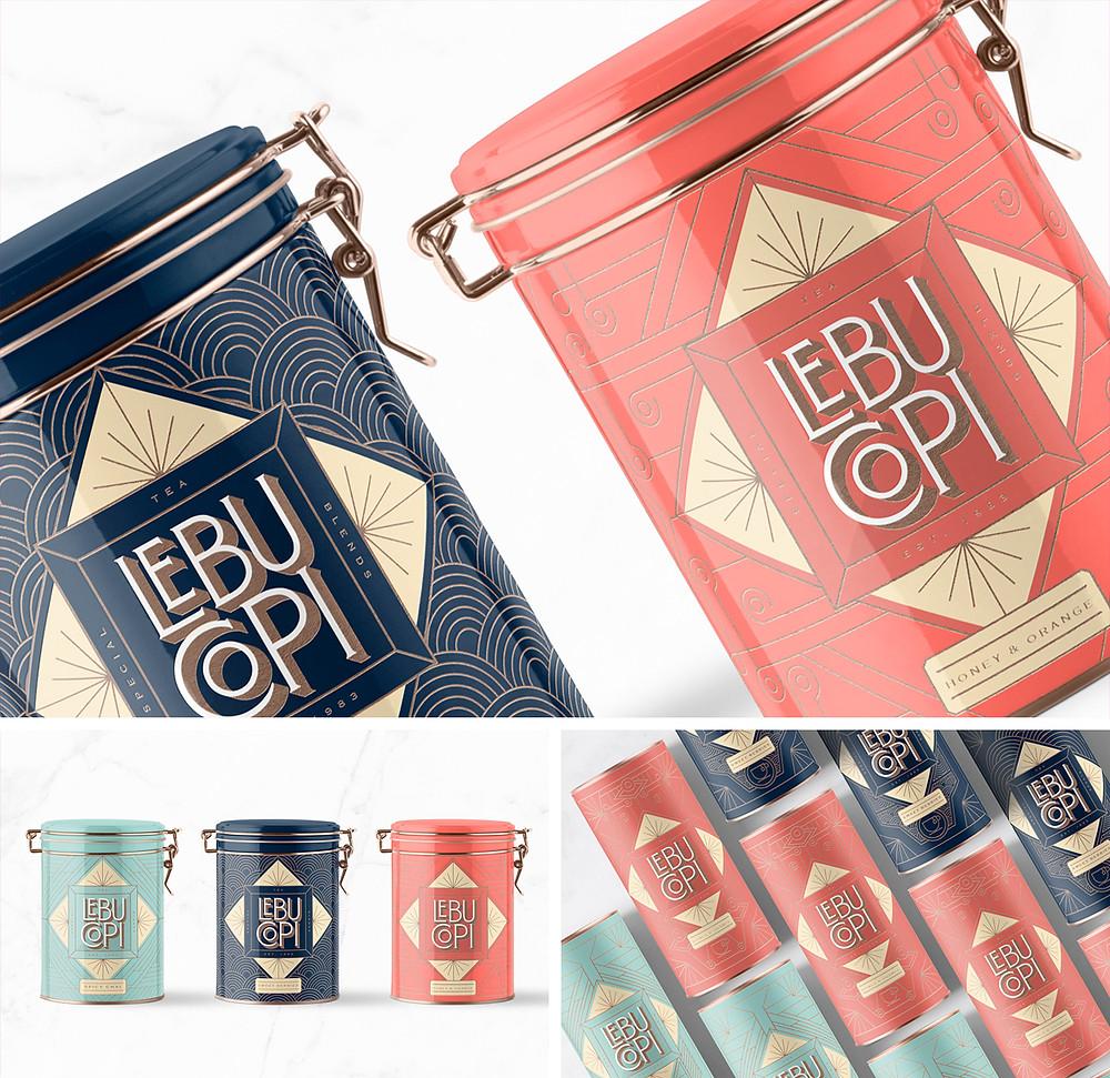 LEBU·COPI - tea branding & packaging design
